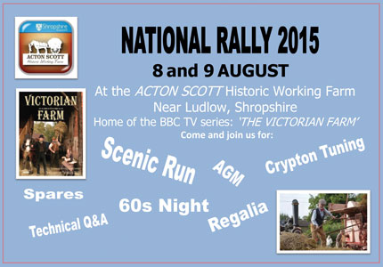 National Rally Aug 8-9 2015 Acton Scott Working Farm, Shropshire