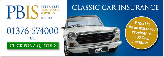 Peter Best Insurance provider of classic car insurance for The 1100 Club